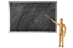 Wooden Dummy with school blackboard Stock Photography
