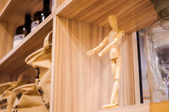 The wooden dummy Royalty Free Stock Photography
