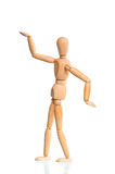 Wooden dummy in traditional Egyptian pose Royalty Free Stock Image