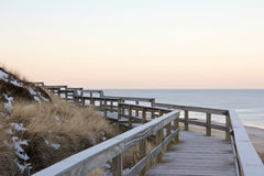 Wooden dune walkway Royalty Free Stock Photo