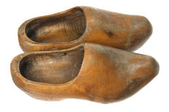 Wooden Dutch Clogs Stock Photo