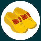 Wooden dutch clogs. Royalty Free Stock Photo