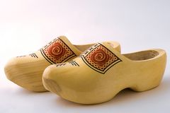 Wooden Dutch Shoes Stock Photos