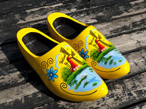 Wooden Dutch Shoes Royalty Free Stock Image