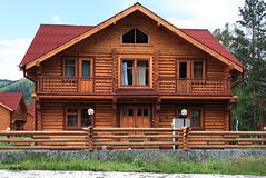 Wooden dwelling-house. royalty free stock photo