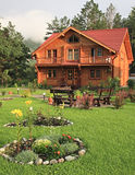 Wooden dwelling-house. royalty free stock photos