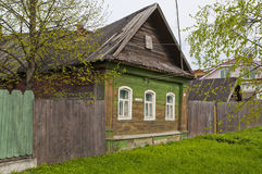 The wooden dwelling house Stock Images