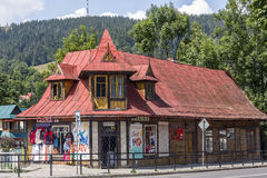 Wooden Dwelling House in Zakopane Stock Photography