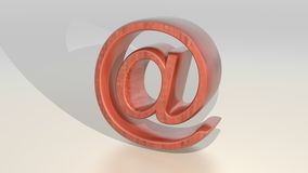 Wooden e-mail - internet messages Royalty Free Stock Photos