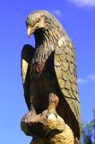 Wooden eagle Stock Image