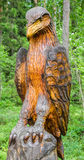 Wooden eagle Royalty Free Stock Images