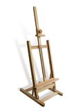 Wooden easel. The artist 's wooden easel Stock Photography