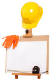 Wooden easel Stock Images