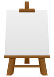 Wooden Easel with Blank Canvas. Isolated on white background. Eps file available Royalty Free Stock Image