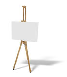 Wooden easel with blank picture canvas isolated on white Royalty Free Stock Image