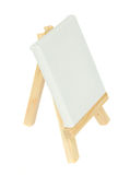 Wooden  easel with empty  canvas Stock Photography