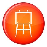 Wooden easel icon, flat style Stock Images