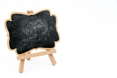 Wooden easel mini blackboard isolated on white Stock Image
