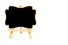 Wooden easel mini blackboard isolated on white Royalty Free Stock Photography