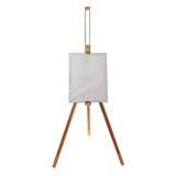 Wooden easel over isolated white background Royalty Free Stock Photography