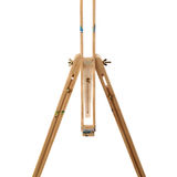 Wooden easel over isolated white background Stock Photography