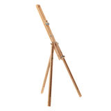 Wooden easel over isolated white background Stock Photos