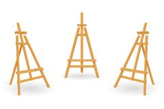 Wooden easel for painting and drawing vector illustration. Isolated on white background vector illustration