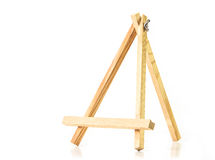 Wooden easel Stock Image