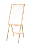 Wooden Easel With A Black Board On White Stock Photography