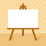 Wooden easels with canvas. Wooden easels with blank canvas in flat design stock illustration
