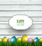 Wooden Easter Background Royalty Free Stock Image