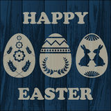 Wooden Easter background Stock Photos