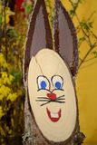 Wooden Easter bunny royalty free stock photo