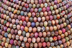 Wooden Easter Eggs Royalty Free Stock Images