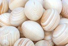Wooden Easter eggs. Royalty Free Stock Image