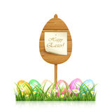 Wooden Easter sign Royalty Free Stock Photography