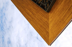 Wooden eaves of the building Stock Photo