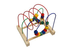 Wooden Educational Toys. Children wooden educational toys. Green, blue, red and yellow Royalty Free Stock Photos