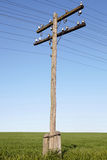 Wooden electric pole Stock Image
