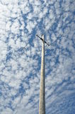 Wooden Electricity pole Stock Photo