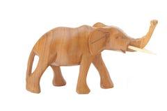 Wooden elephant Stock Photography