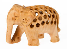Wooden Elephant Stock Image