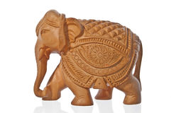 Wooden elephant Royalty Free Stock Image