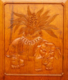 Wooden Elephant Door Jing An Temple Shanghai Royalty Free Stock Photos
