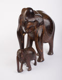 Wooden Elephant. S  on White Royalty Free Stock Photography