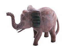 Wooden elephant figurine Royalty Free Stock Images
