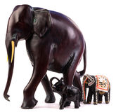 Wooden elephant figurine Royalty Free Stock Image