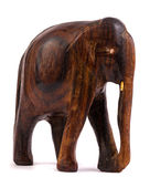 Wooden elephant figurine Stock Images