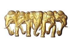 Wooden elephant isolated on white. Background Stock Photography