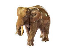 Wooden Elephant Royalty Free Stock Images